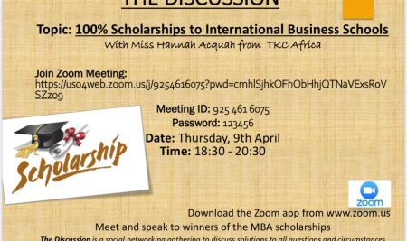 100% Scholarships to International Business Schools